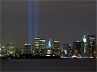 Statue of Liberty and WTC Lights